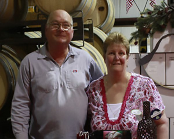 Indian Peak Vineyards Owners Fred and Donna Boots, Manton, CA 96059.